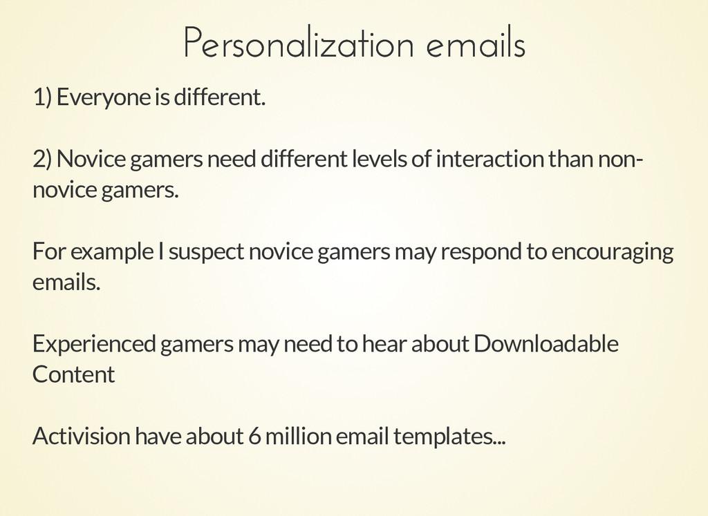 Personalization emails Personalization emails 1...