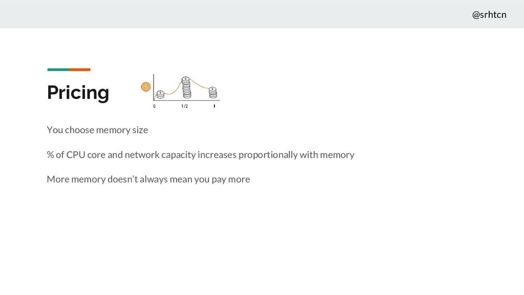@srhtcn Pricing You choose memory size % of CPU...