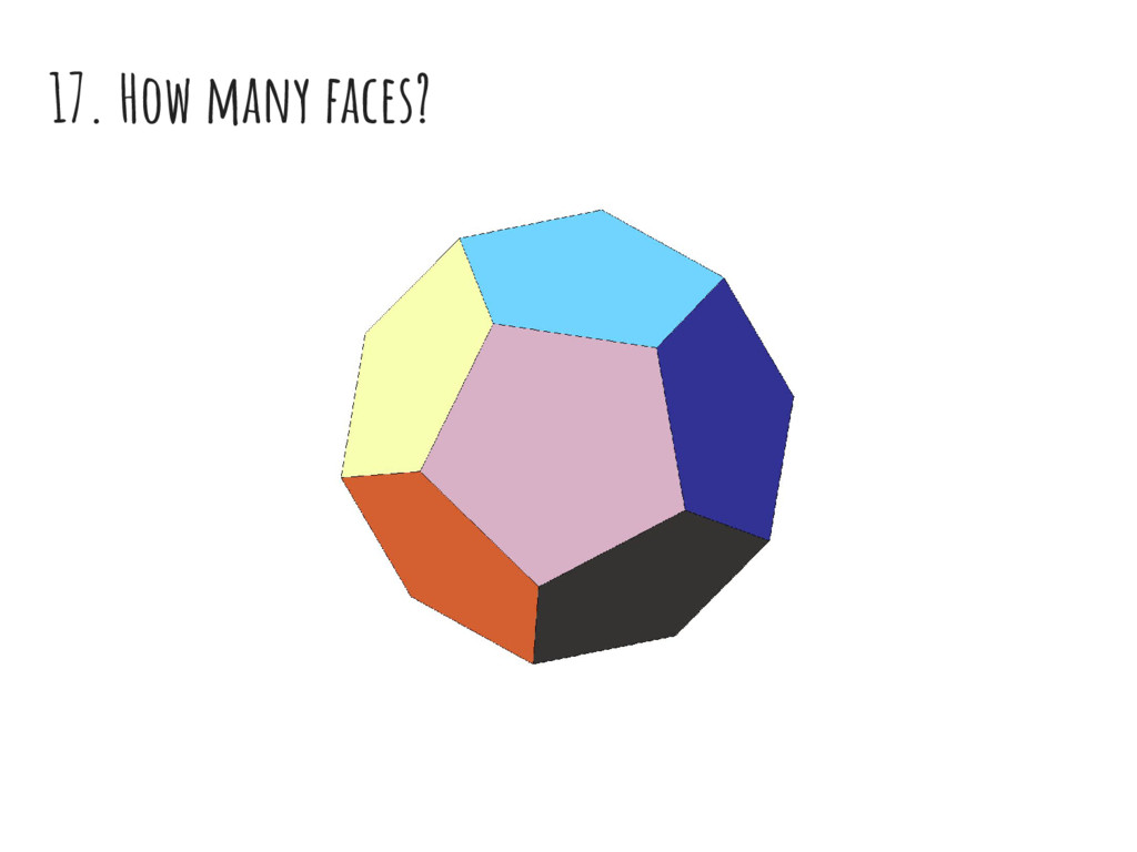 17. How many faces?