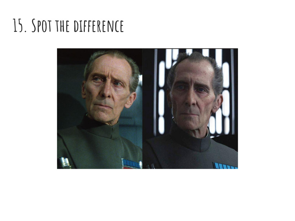 15. Spot the difference