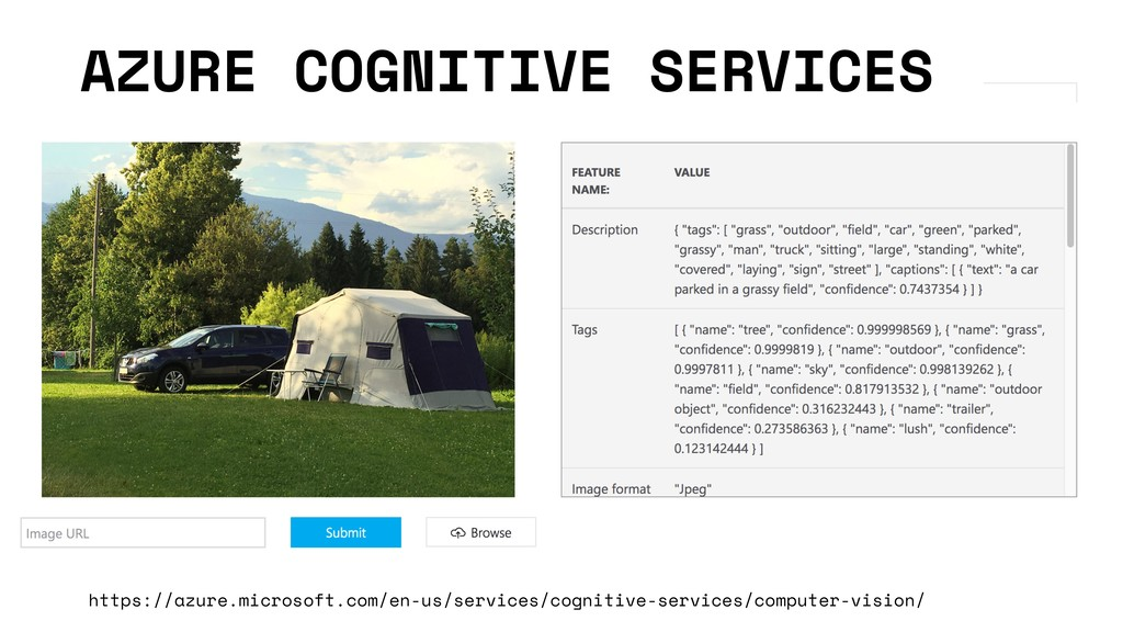 AZURE COGNITIVE SERVICES https://azure.microsof...