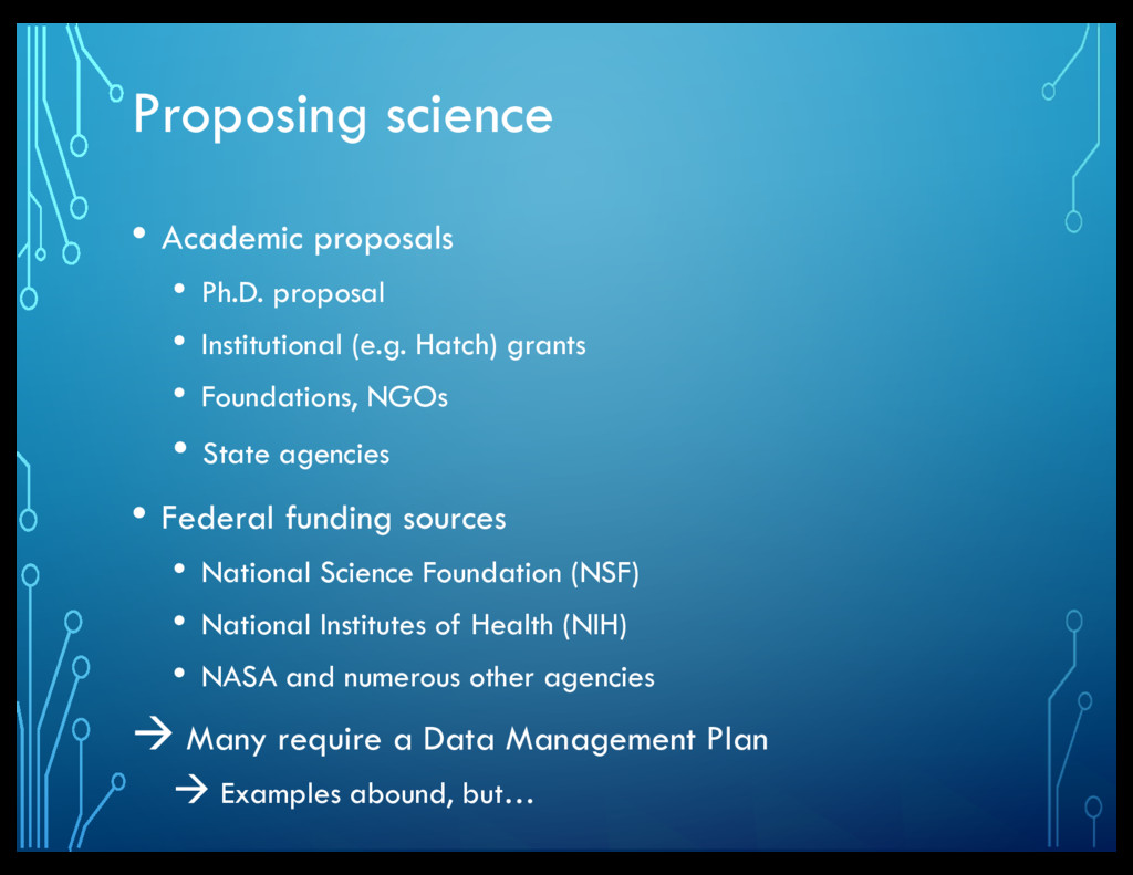 Proposing science • Academic proposals • Ph.D. ...