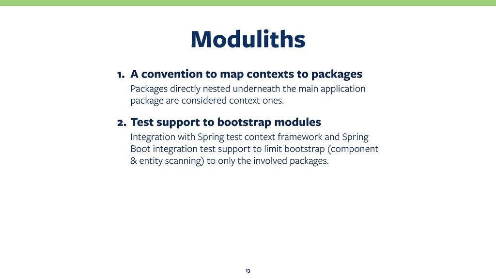 Moduliths 13 1. A convention to map contexts to...
