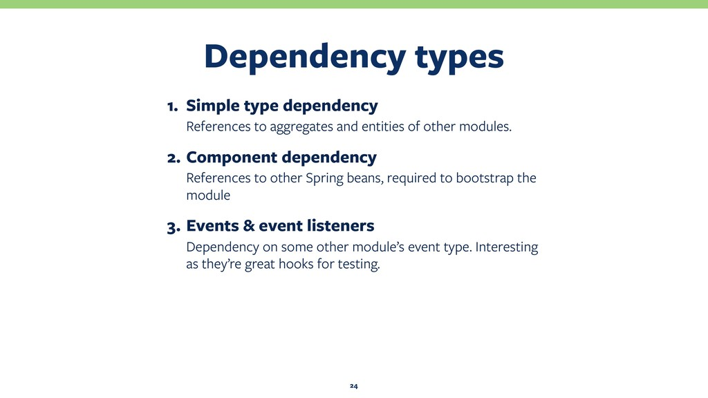 Dependency types 24 1. Simple type dependency R...