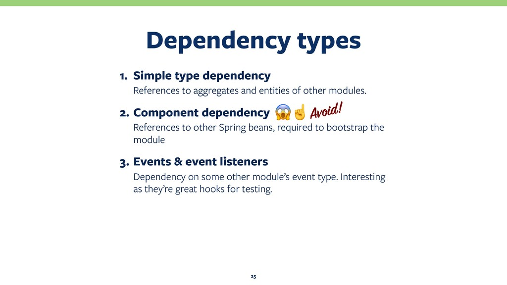 Dependency types 25 1. Simple type dependency R...