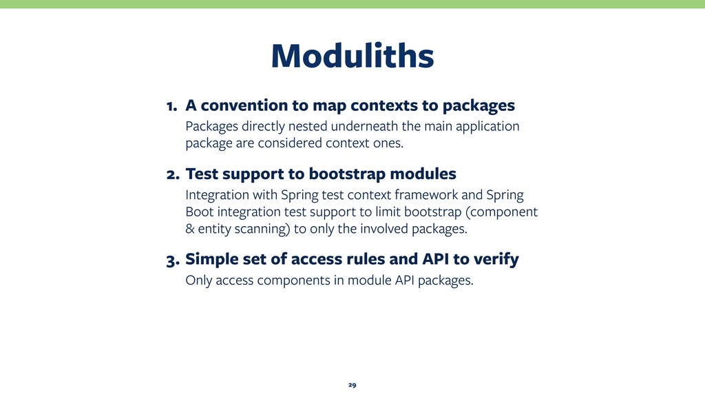 Moduliths 29 1. A convention to map contexts to...
