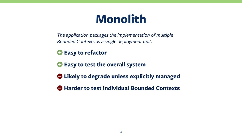 Monolith 4 The application packages the impleme...