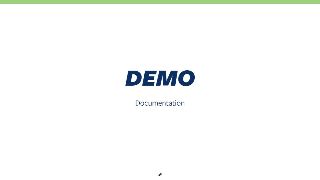 Documentation DEMO 38
