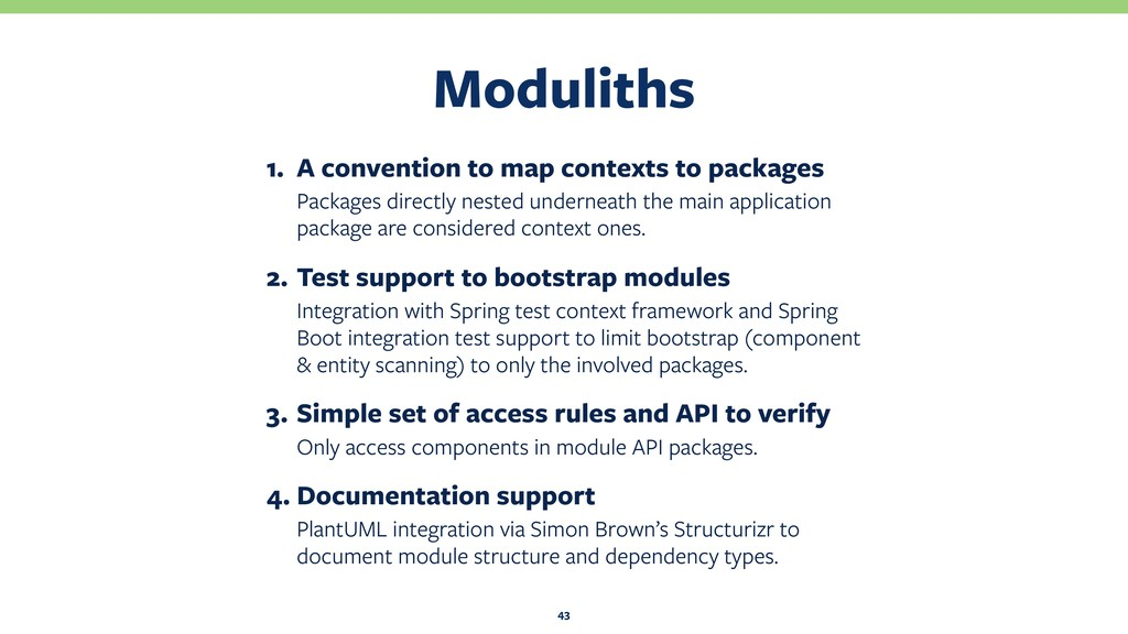 Moduliths 43 1. A convention to map contexts to...