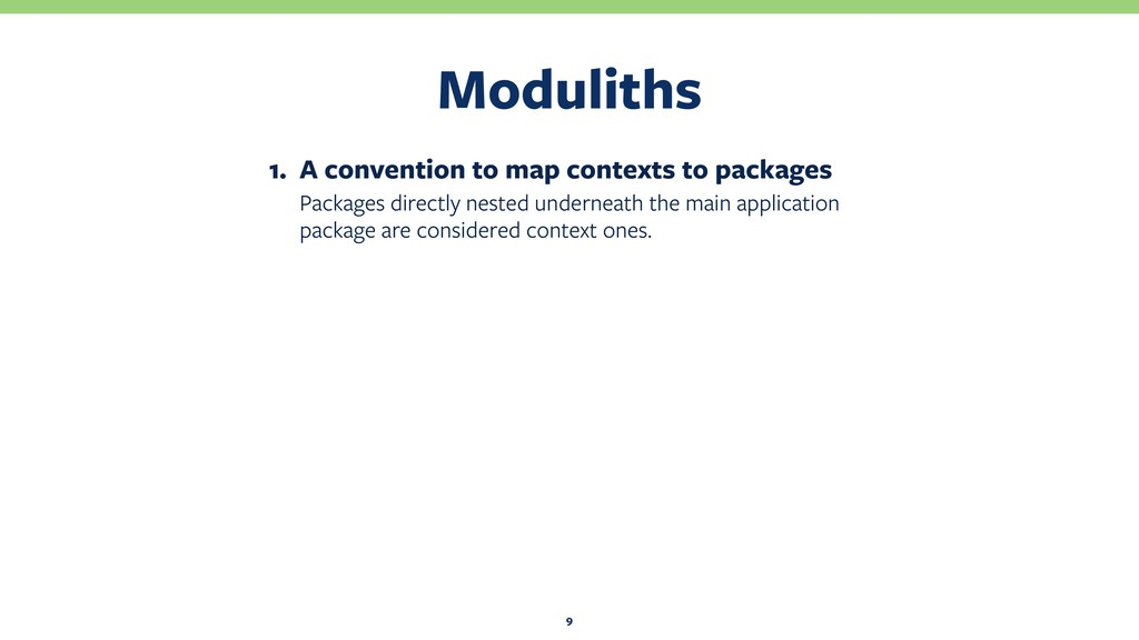 Moduliths 9 1. A convention to map contexts to ...