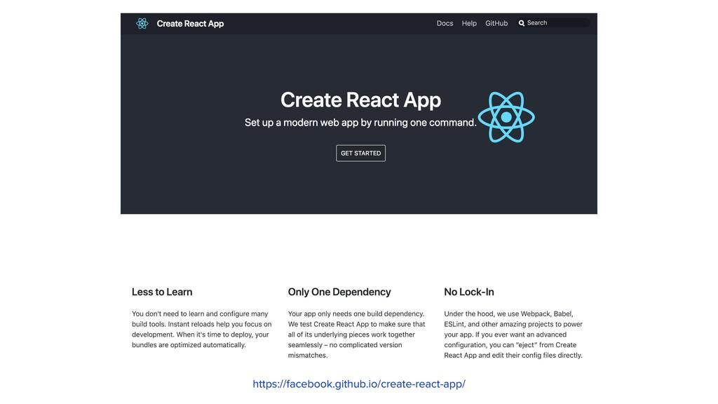 https://facebook.github.io/create-react-app/