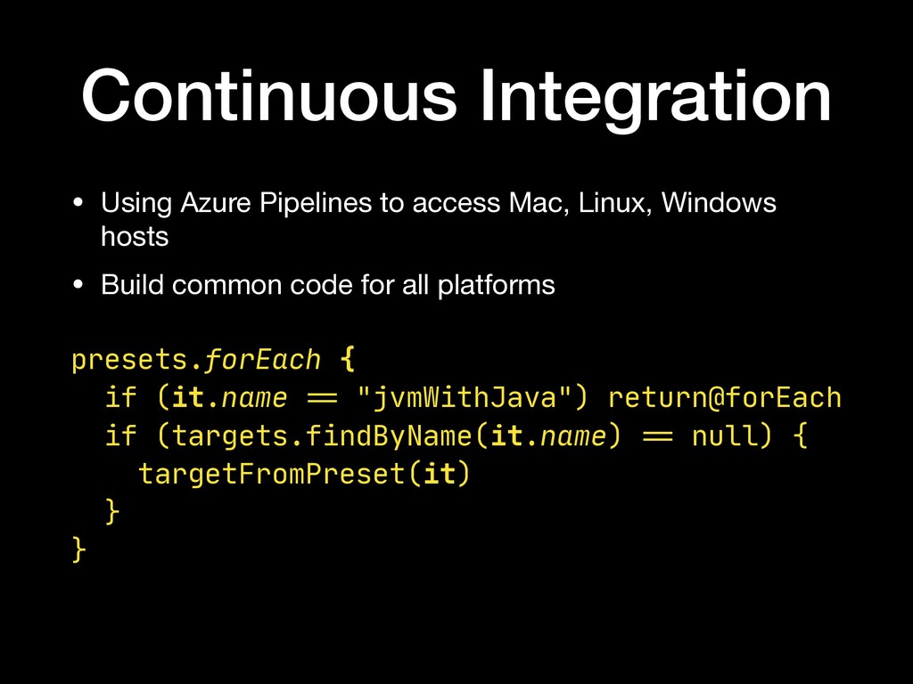 Continuous Integration • Using Azure Pipelines ...