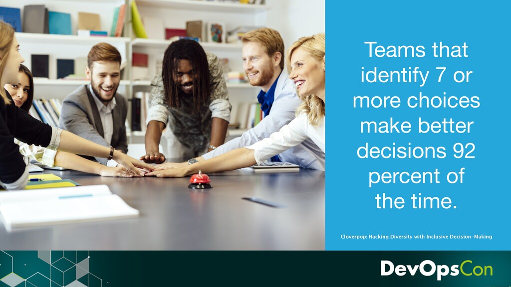 Teams that identify 7 or more choices make bett...