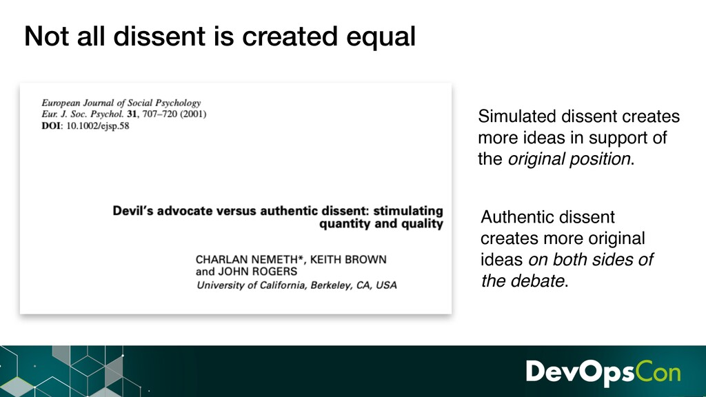 Not all dissent is created equal Simulated diss...