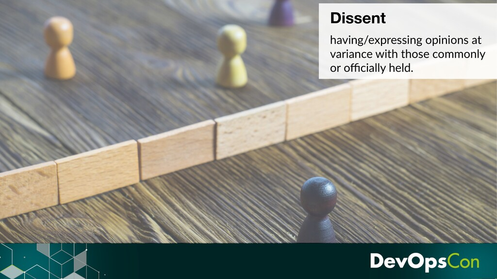 Dissent having/expressing opinions at variance ...