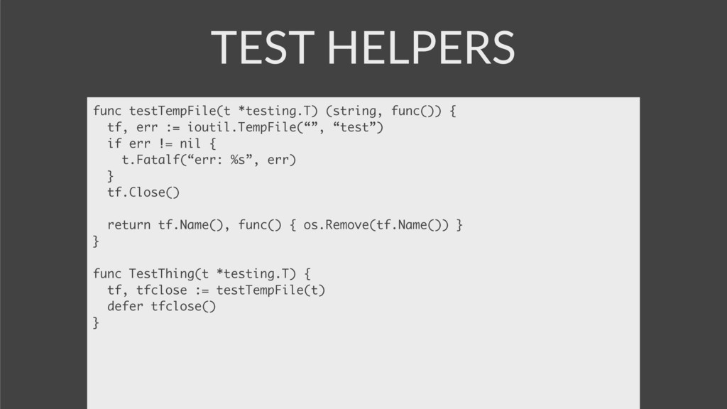 TEST HELPERS func testTempFile(t *testing.T) (s...