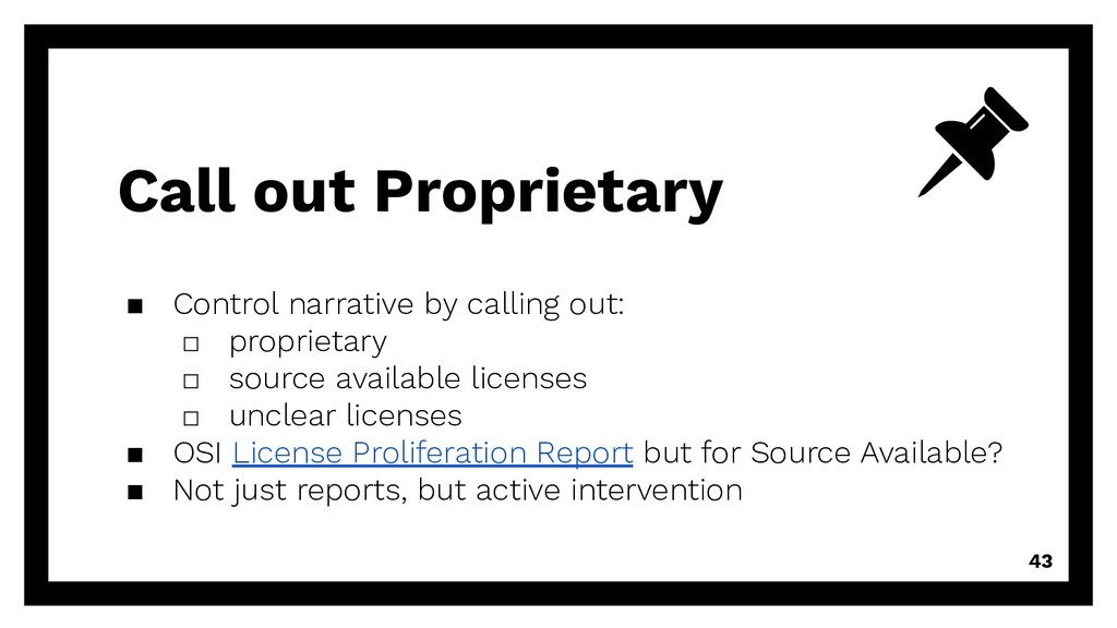 Call out Proprietary ▪ Control narrative by cal...