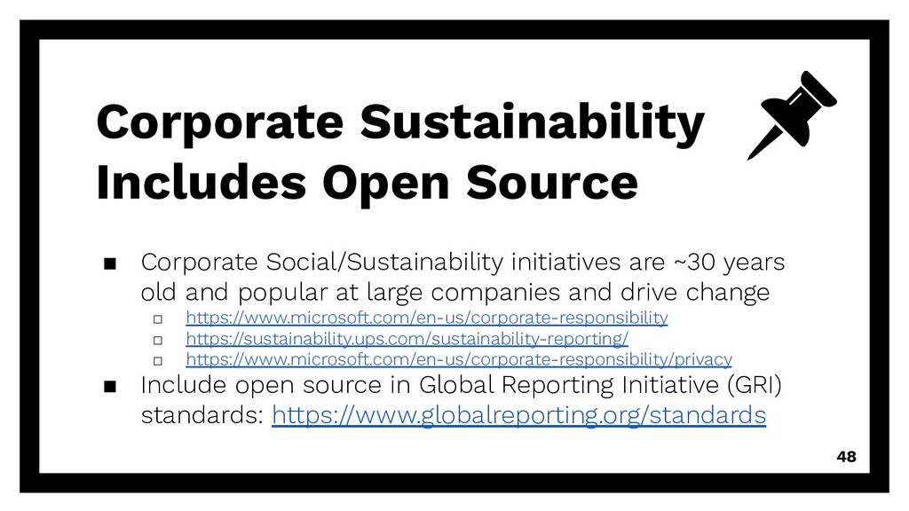 Corporate Sustainability Includes Open Source ▪...