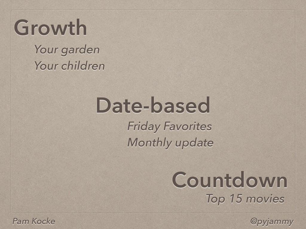 Pam Kocke @pyjammy Growth Countdown Date-based ...