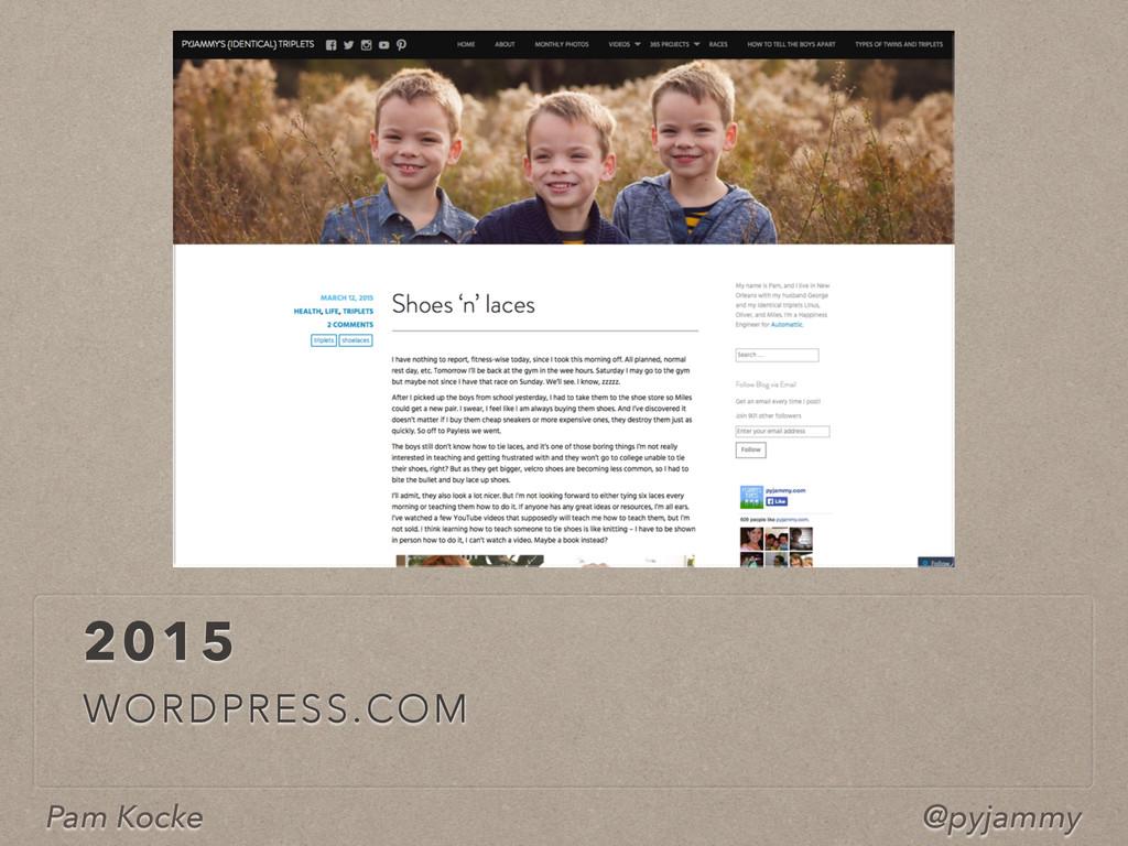 Pam Kocke @pyjammy 2015 WORDPRESS.COM