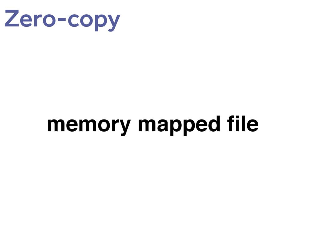 memory mapped file Zero-copy