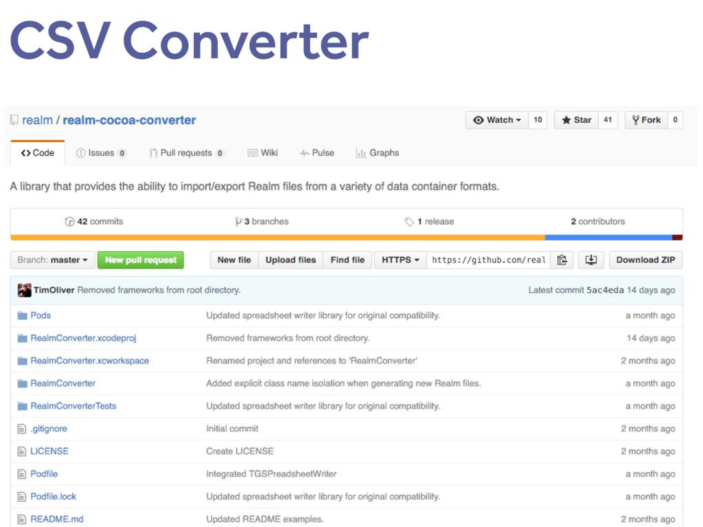 CSV Converter