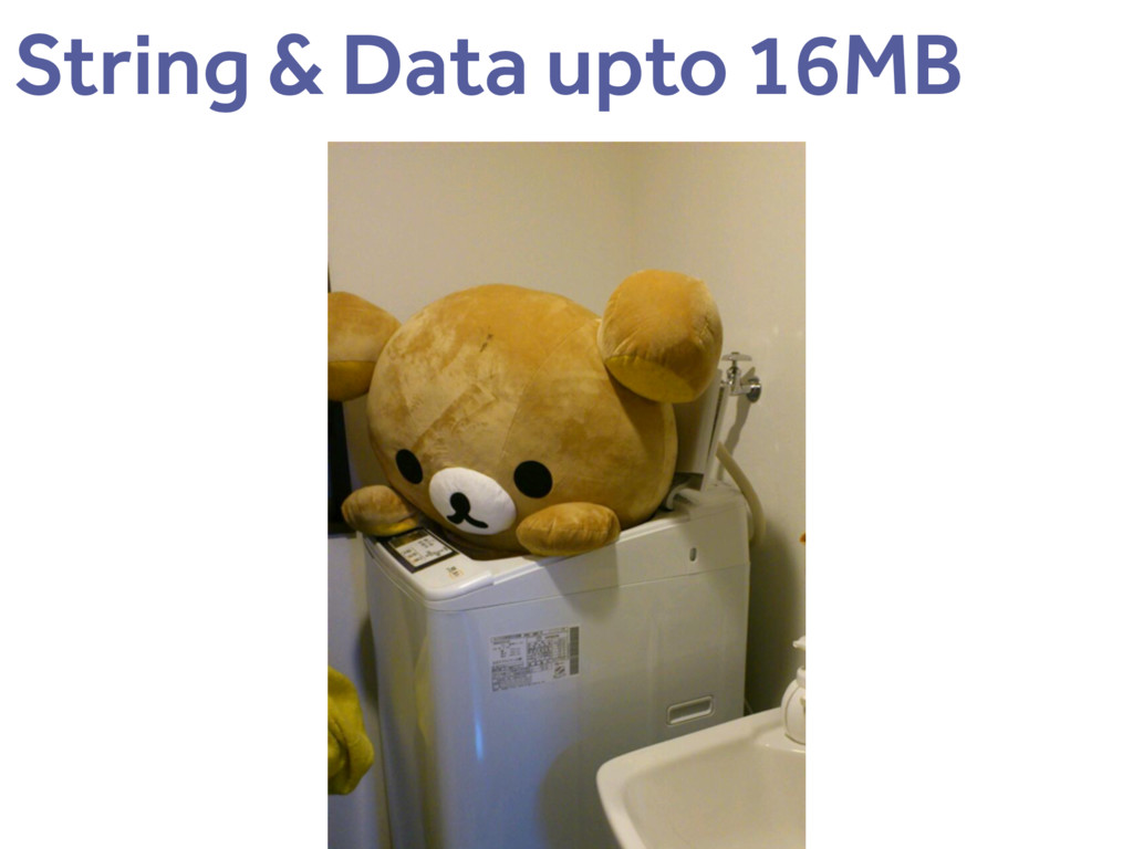 String & Data upto 16MB