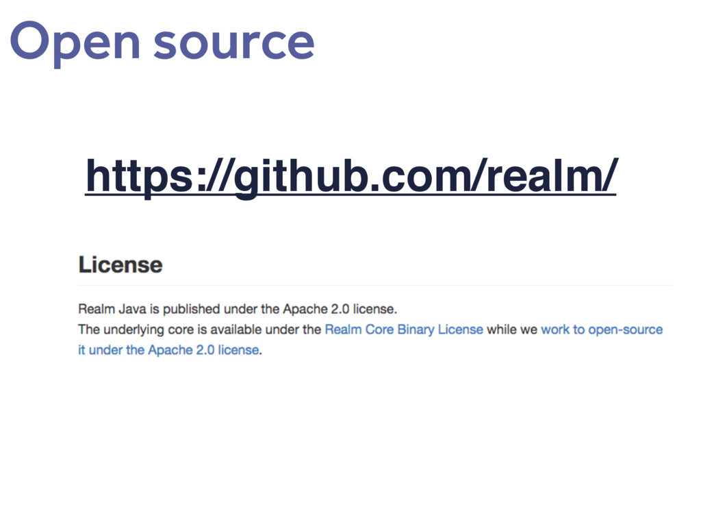 https://github.com/realm/ Open source