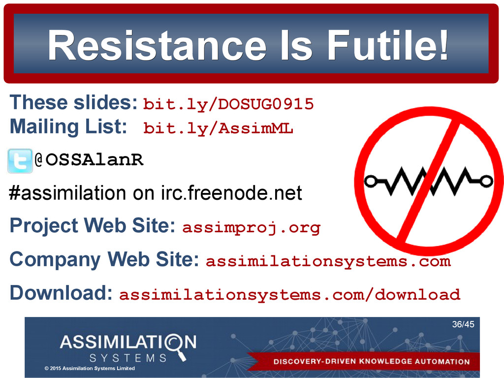 © 2015 Assimilation Systems Limited 36/45 Resis...