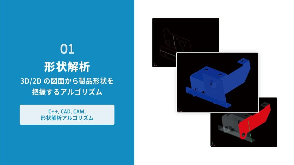 形状解析 01 3D/2D の図面から製品形状を 把握するアルゴリズム C++, CAD, C...