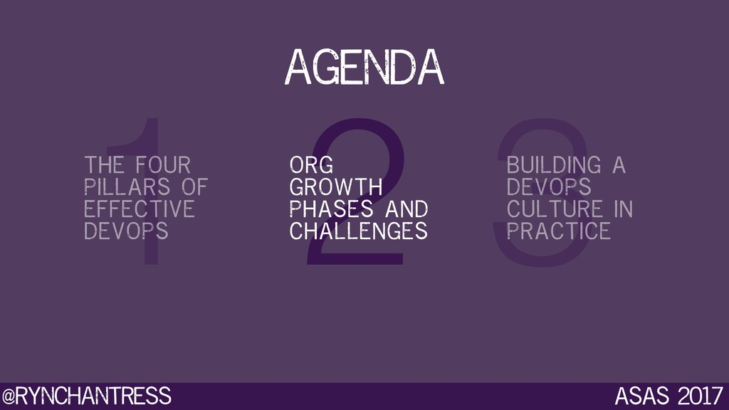 @rynchantress 3 2 1 agenda ASAS 2017 THE FOUR P...