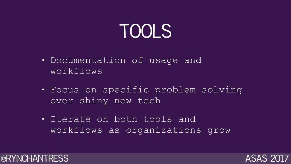 @rynchantress ASAS 2017 tools • Documentation o...