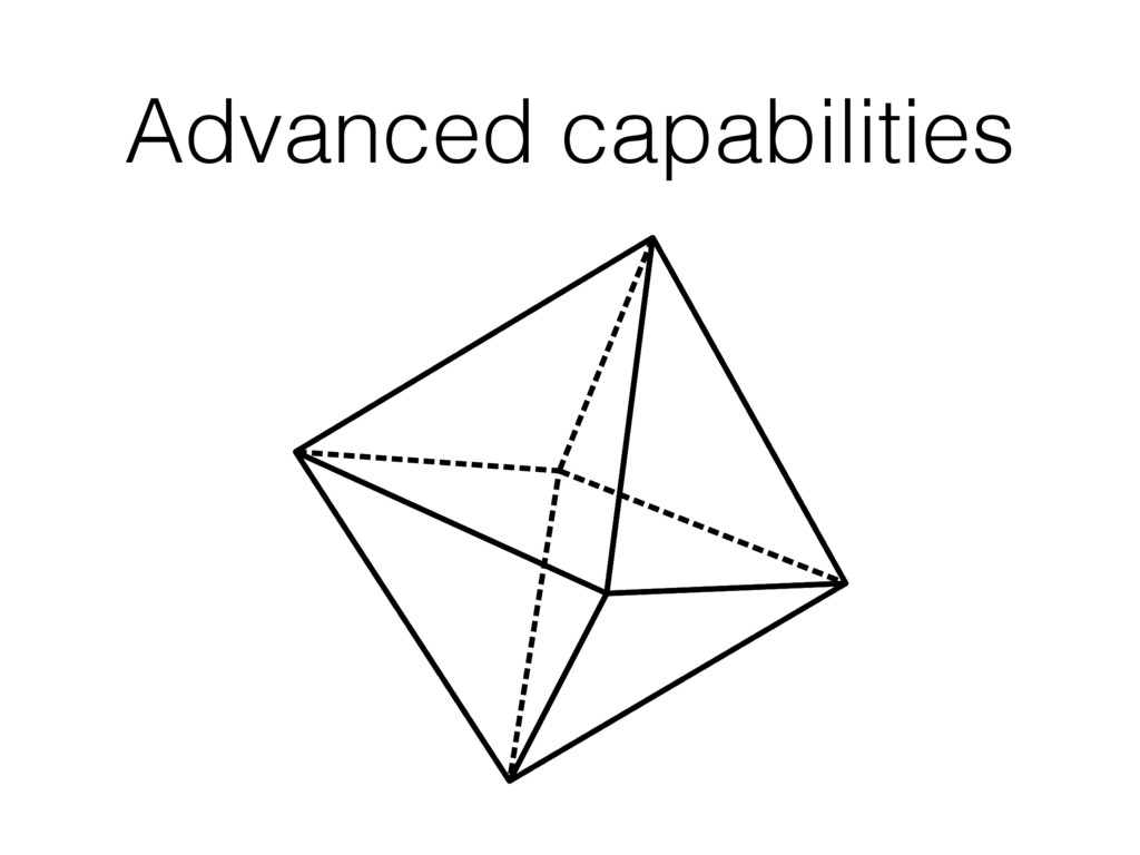 Advanced capabilities