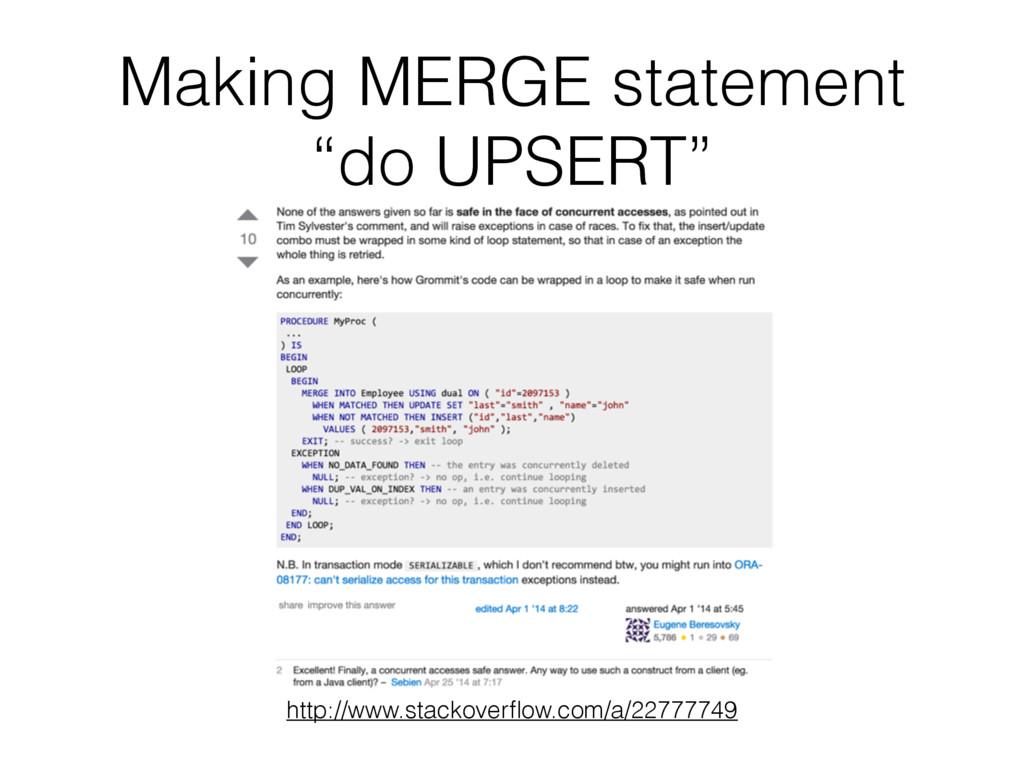 """Making MERGE statement """"do UPSERT"""" http://www.s..."""