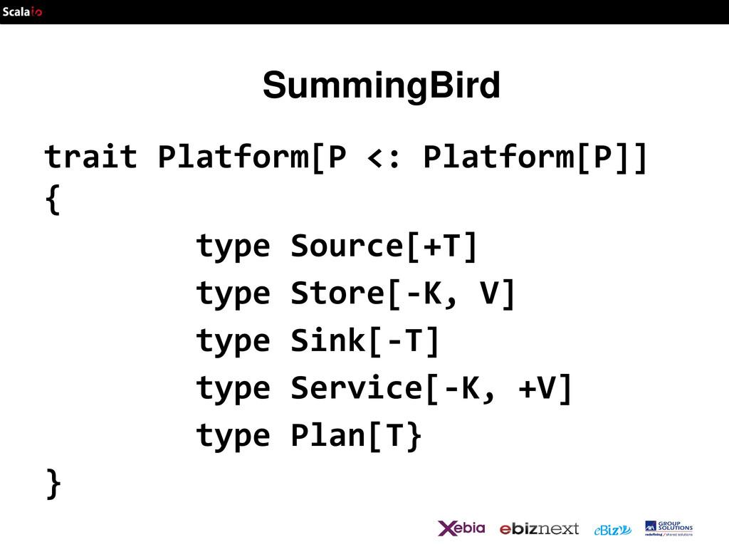 SummingBird trait Platform[P <: Platform[P]] { ...