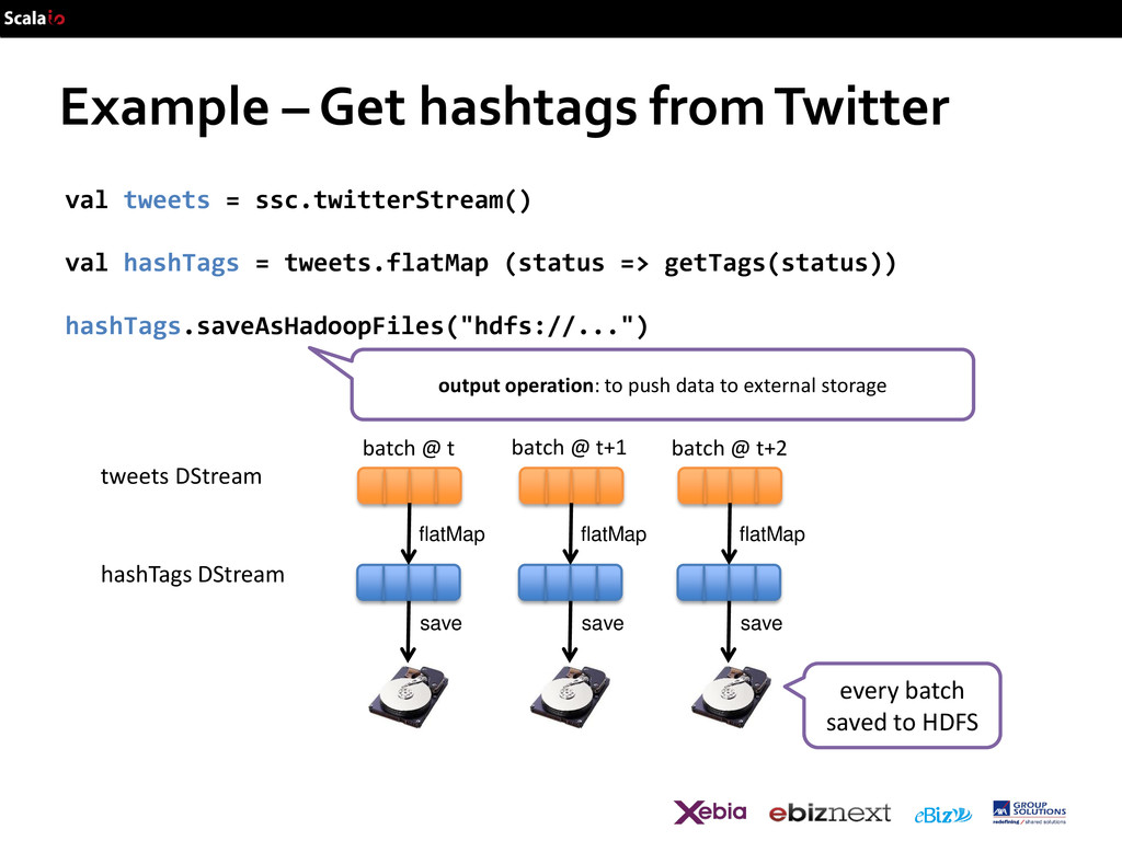Example – Get hashtags from Twitter val tweets ...