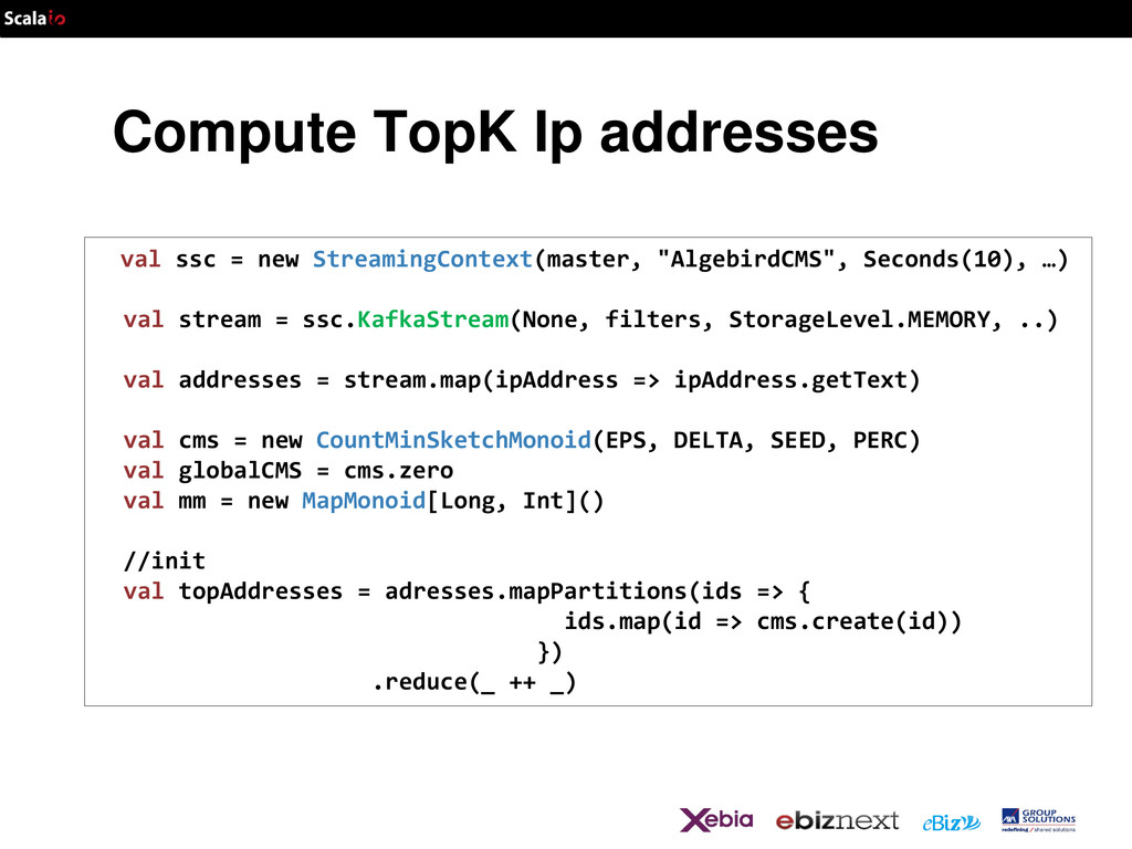 Compute TopK Ip addresses val ssc = new Streami...