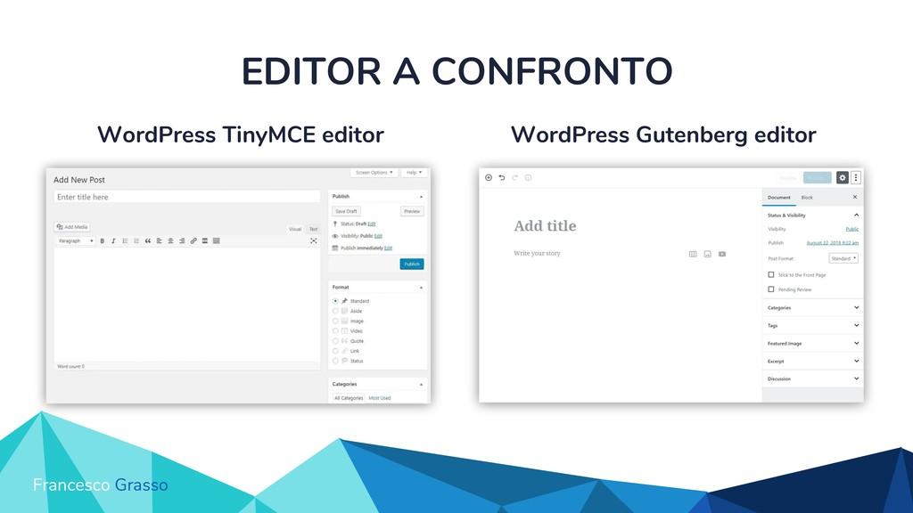 WordPress Gutenberg editor WordPress TinyMCE ed...