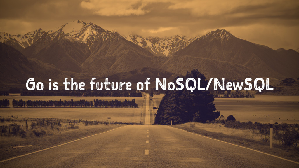 Go is the future of NoSQL/NewSQL