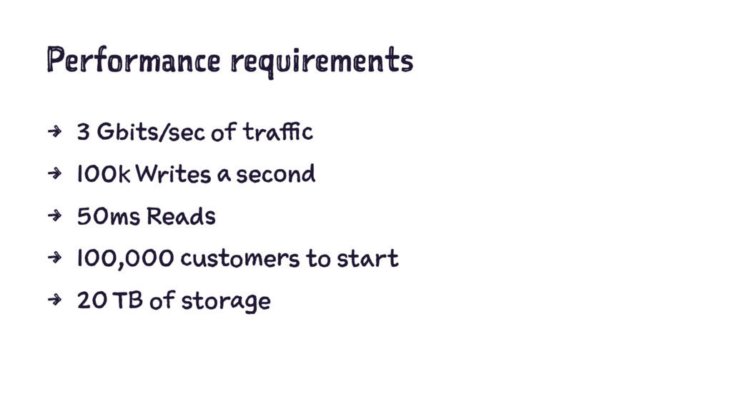 Performance requirements 4 3 Gbits/sec of traff...