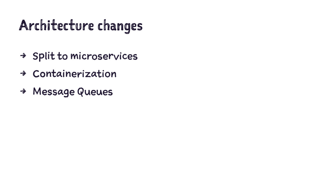Architecture changes 4 Split to microservices 4...