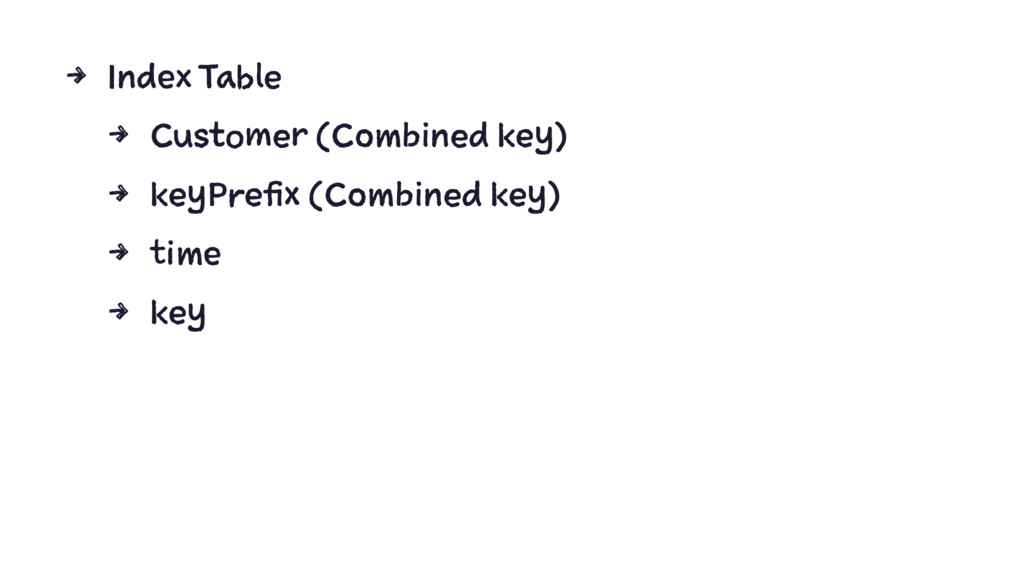 4 Index Table 4 Customer (Combined key) 4 keyPr...