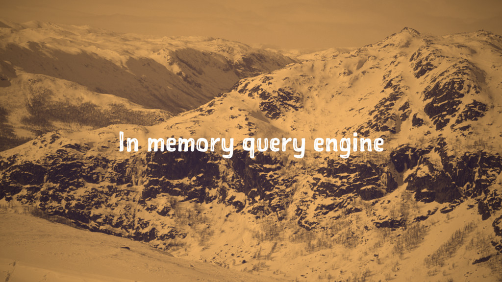 In memory query engine