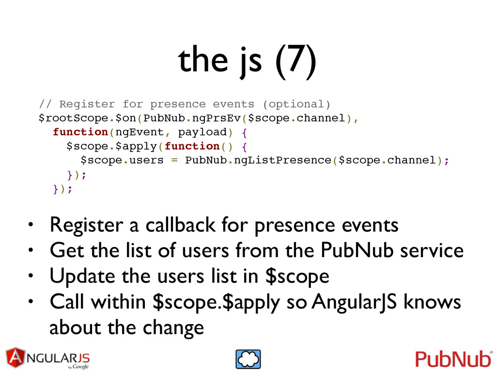 the js (7) // Register for presence events (opt...