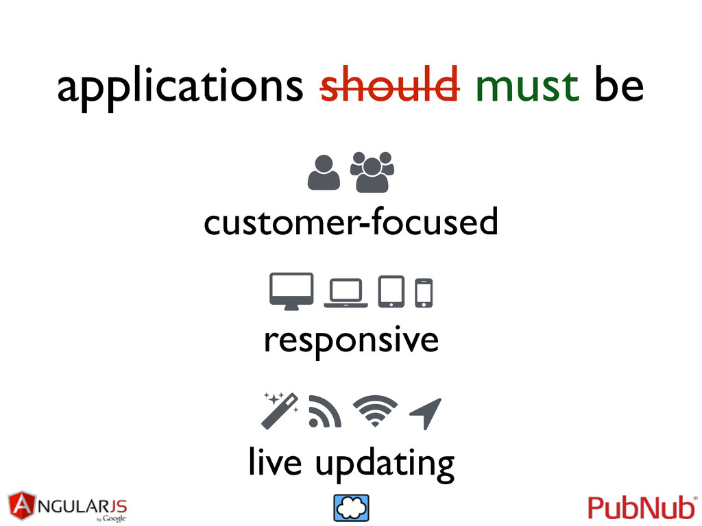 applications should must be 