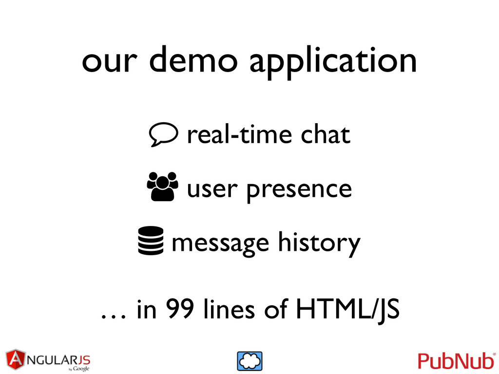 our demo application real-time chat	 