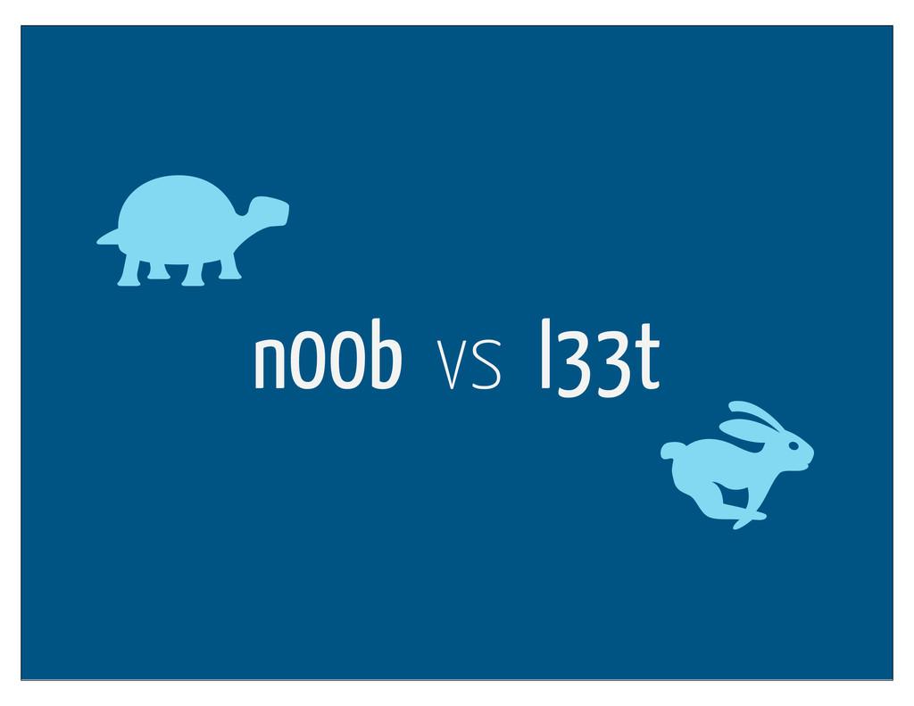 n00b vs l33t