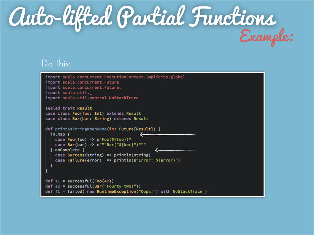 Auto-lifted Partial Functions Example: Do this: