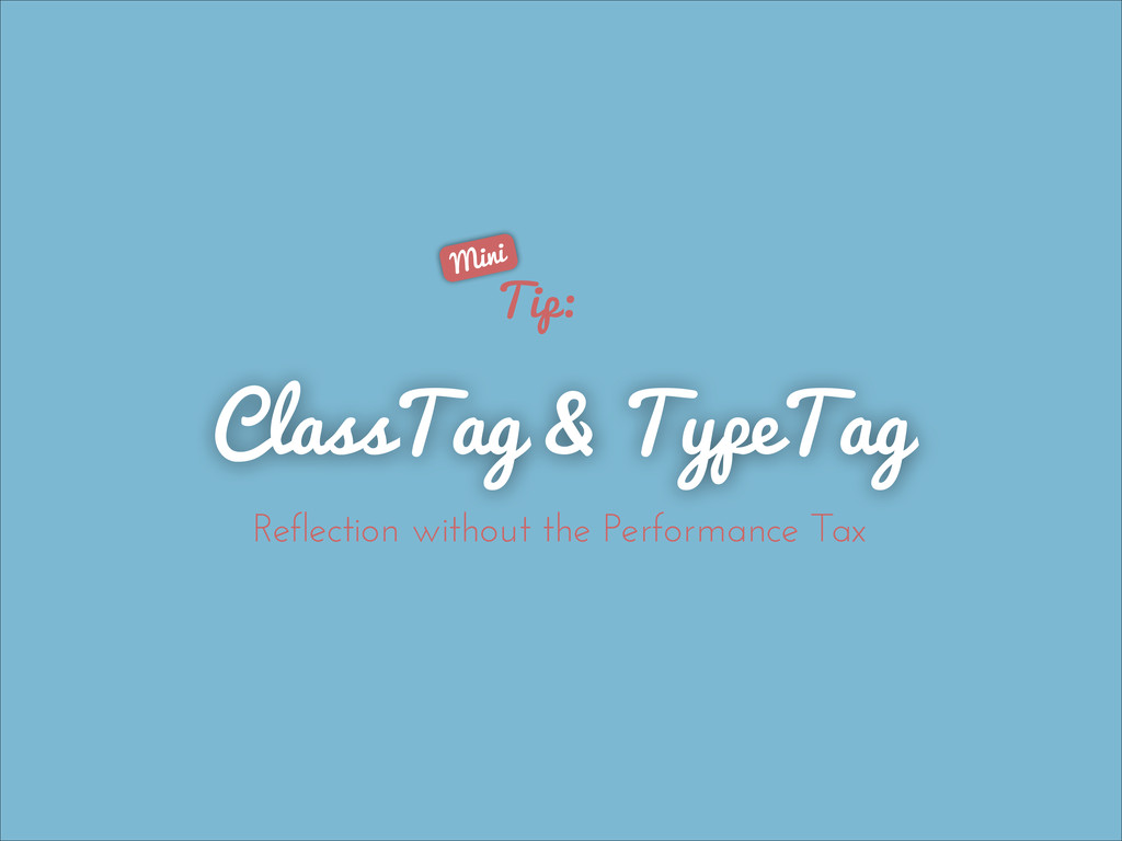 Tip: ClassTag & TypeTag Reflection without the ...