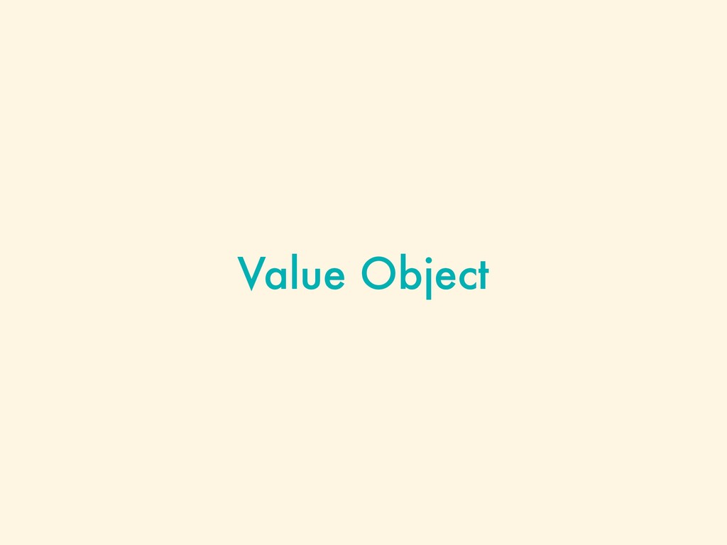 Value Object